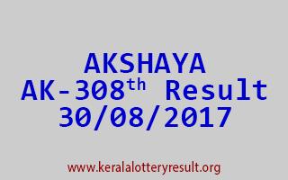 AKSHAYA Lottery AK 308 Results 30-8-2017