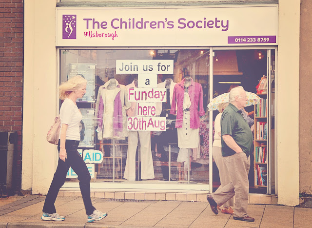 Charity shop, charity shopping, Hillsborough, Middlewood Road