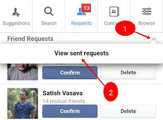 Facebook request kis kisne reject ki kaise jane