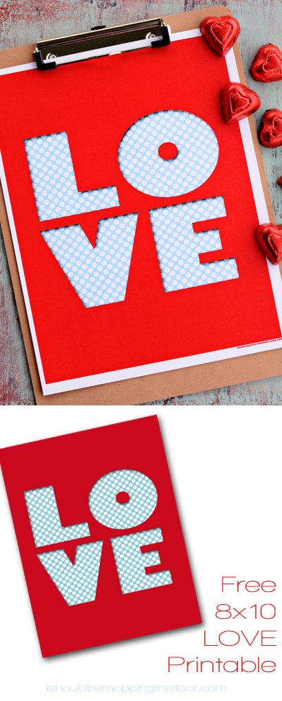 Free LOVE Printable | 8x10 | Instant Download