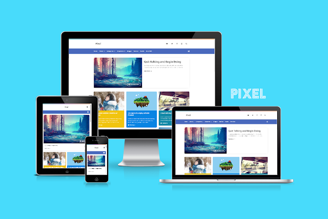 Pixel Responsive Blogger Theme