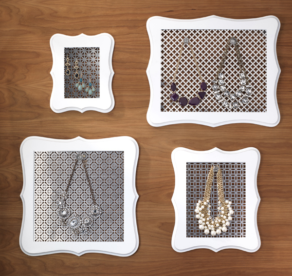 Boutique Jewelry Holder @craftsavvy @sarahowens #craftwarehouse #diy #jewelry #organization #frame