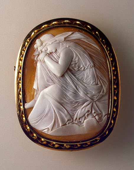 Allegory of the Night Artist unknown, Britain, 1860s  Double-layer shell and gold; cameo Hermitage Museum, St. Petersburg
