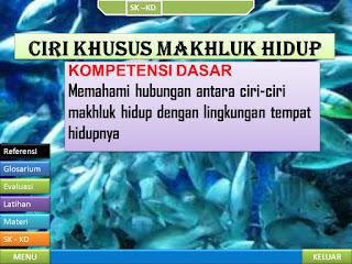 Download Media Pembelajaran Kelas VI Tentang Materi Ciri-Ciri Makhluk Hidup