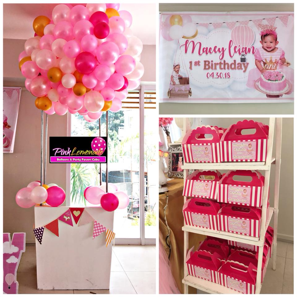 Pink Lemonade Balloons and Party Favors Cebu: Pink hot air Balloon ...