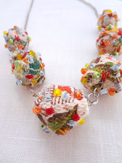 How to make fabric beads