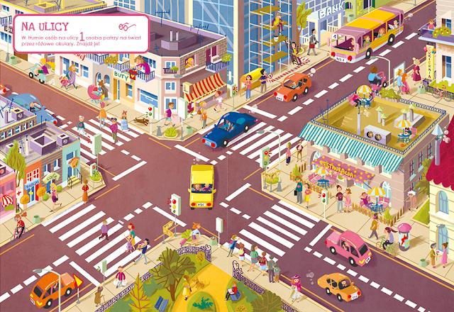 katarzyna urbaniak ilustracje wilga zagubione zwierzaki miasto zagubionych rzeczy ulica