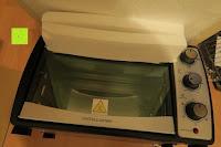 alles geschützt: Andrew James – 23 Liter Mini Ofen und Grill mit 2 Kochplatten in Schwarz – 2900 Watt – 2 Jahre Garantie