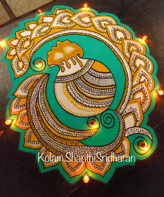 beautiful Pongal kolam Rangoli Designs 2019