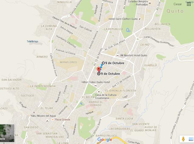 mapa - Hotel en Quito - Hotel Mercure Alameda Quito