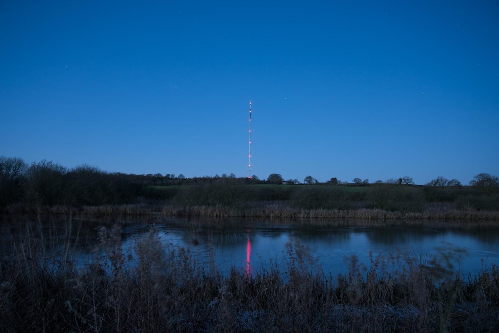 Belmont Transmitter at sunrise
