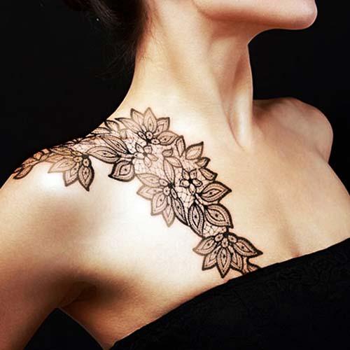 dantel dövmeleri lace tattoos 1