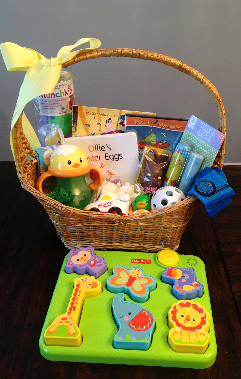 Easter basket ideas for babies and toddlers 95 ideas save carls finished easter basket negle Choice Image