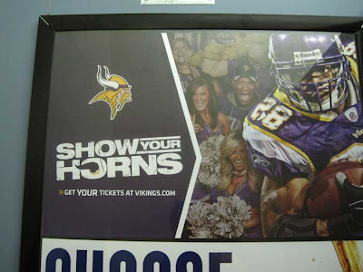 Vikings ad for season ticket sales with headline SHOW YOUR HORNS