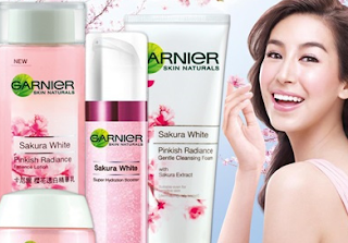 manfaat Garnier Sakura White Pinkish Radiance Whitening Cream SPF21