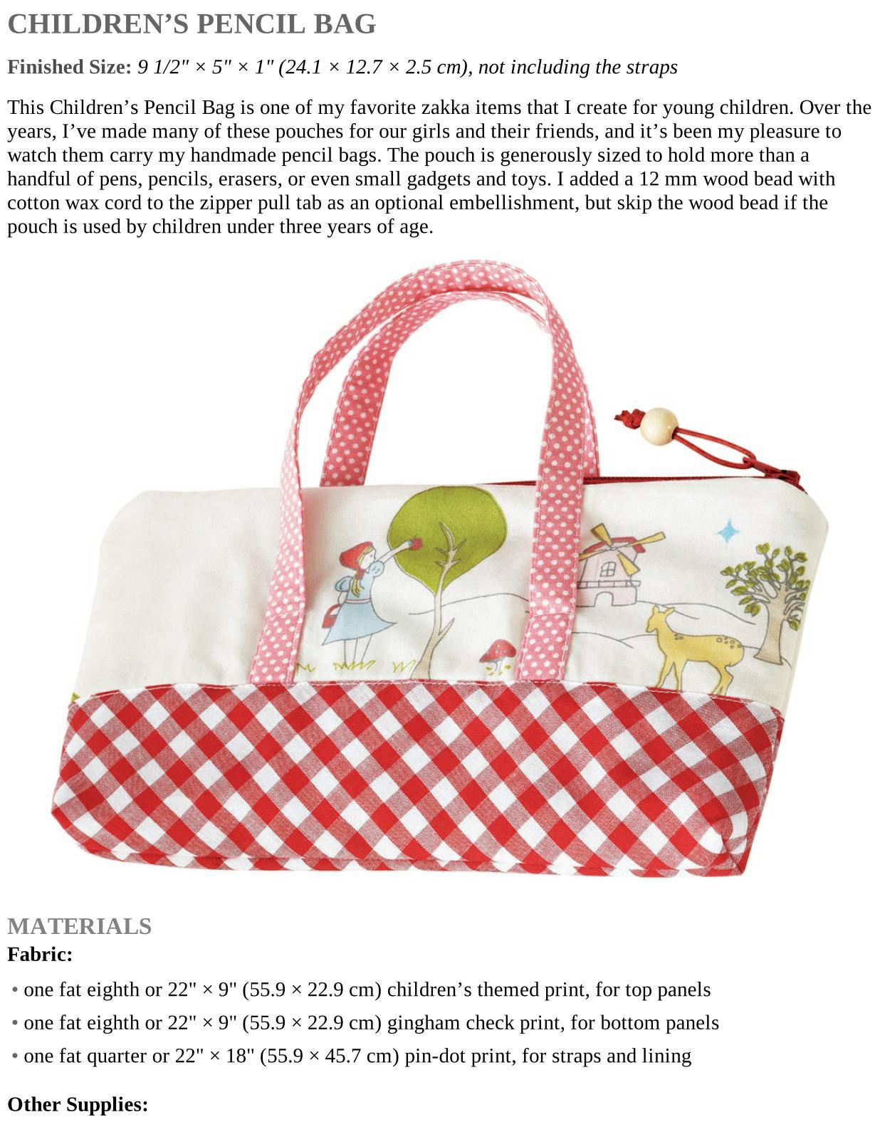 Children's Pencil Bag