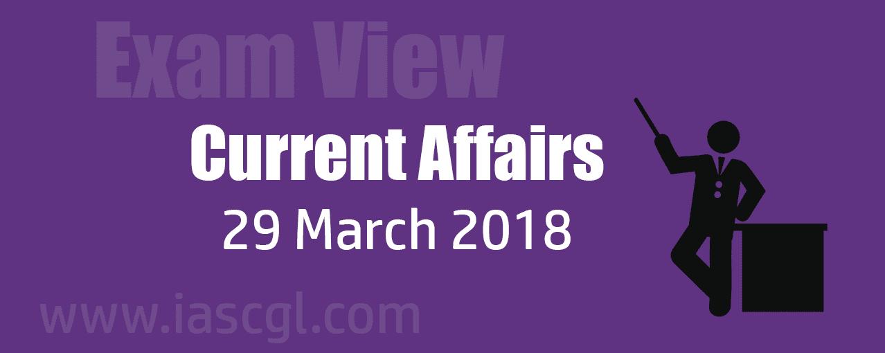 Current Affair 29 march 2018