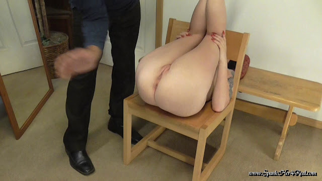 Spanked over a chair