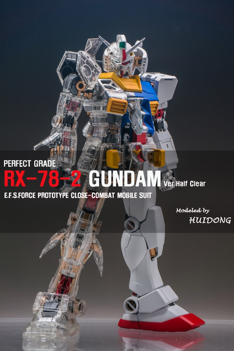 detailed look 322fd 9d0c1 Painted Build: PG 1/60 RX-78-2 Gundam Mechanical Clear ver ...