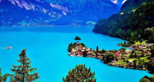 Viagem: Interlaken para Brienz ( Lago Brienz ) - Alpes Bernese Oberland, Suíça