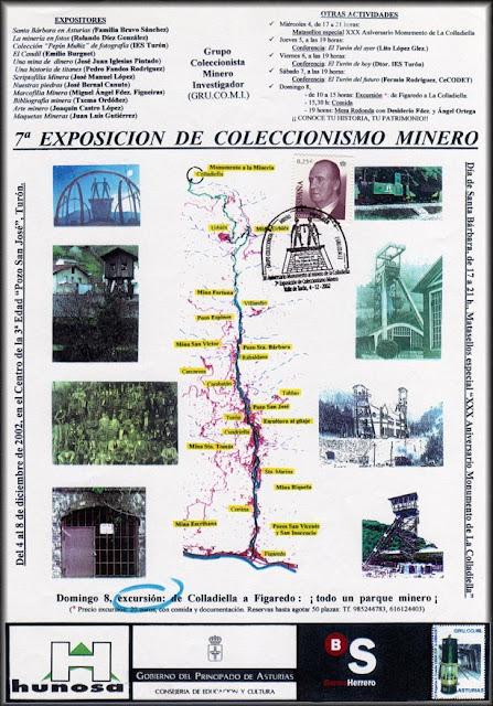 Cartel de la exposición de coleccionismo minero en Turón