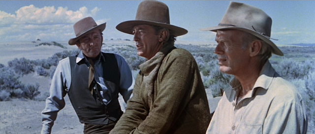Kirk Douglas, Robert Mitchum and Richard Widmark  in The Way West (1967)
