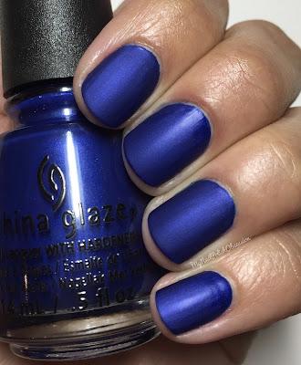 China Glaze; Fall 2016 Rebel Collection - Combat Blue-ts