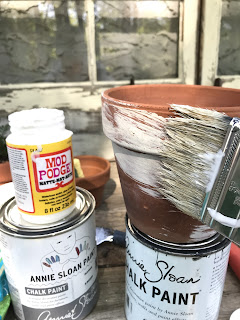 Age New Clay Pots with simple DIY instructions.