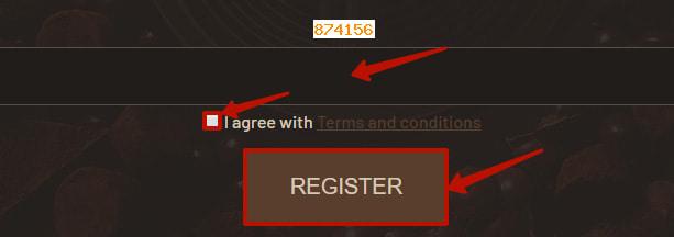 Регистрация в ChocoBit 3