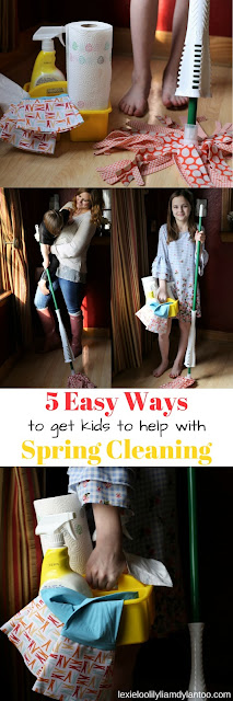 5 Easy Ways To Get Kids To Help With Spring Cleaning #cleaning #kids #sponsored
