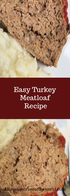 Pinnable image for a turkey meatloaf recipe