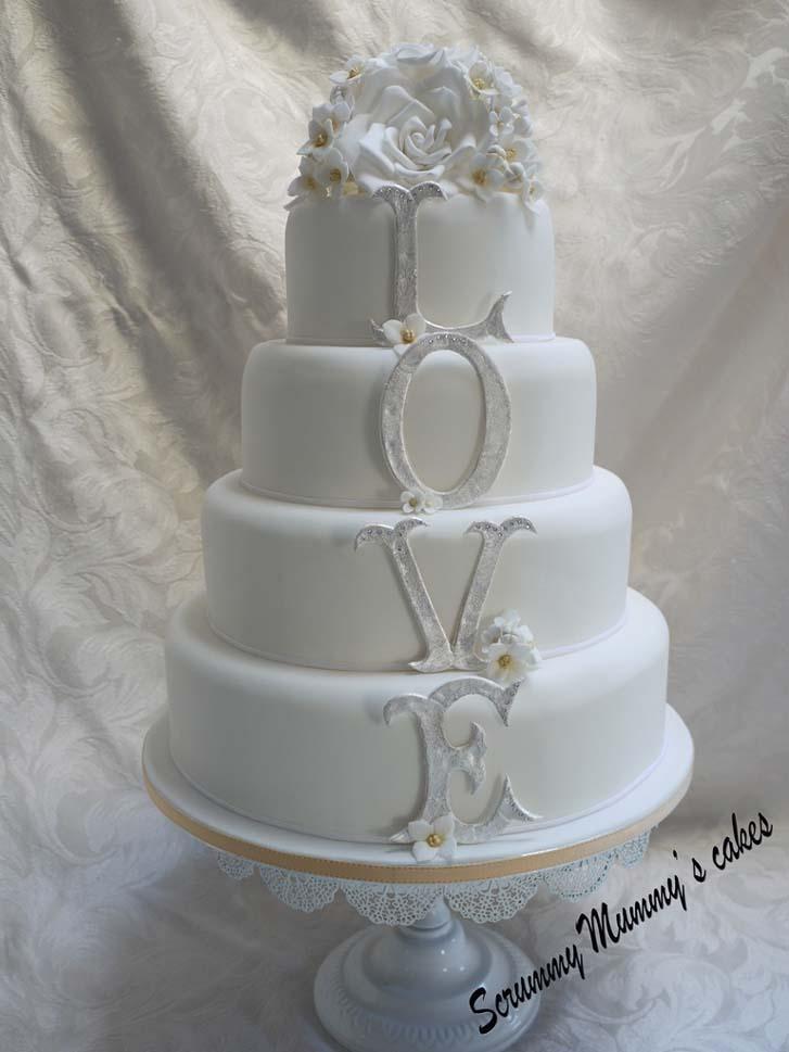 Awesome 4 Tier Wedding Cake | Cake Magazine