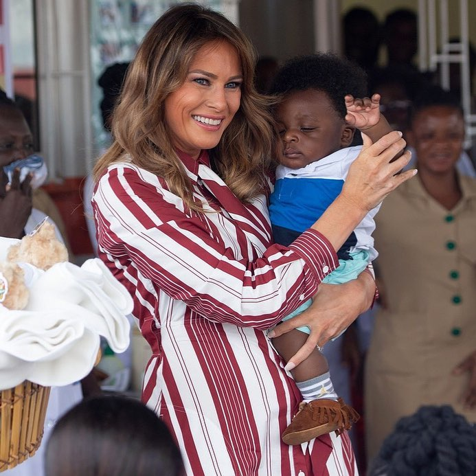 Melania Trump Arrives In Ghana, Headed To Kenya In Maiden Trip