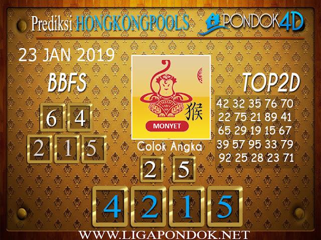 Prediksi Togel HONGKONG PONDOK4D 23 JANUARI 2019