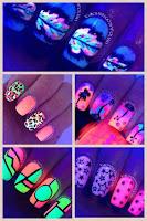 Uñas fluorescentes