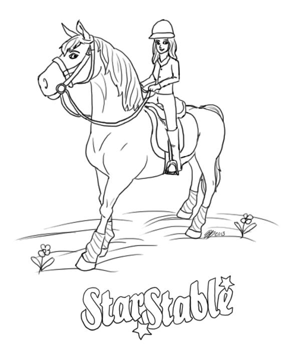 Verjaardag Vrouw Kleurplaat Star Stable Z Pamelą Kolorowanki Star Stable