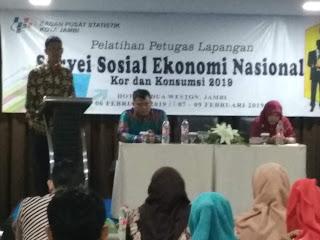 BPS Kota Menggelar Pelatihan Petugas lapangan survei sosial ekonomi nasional Kor dan konsumsi 2019 Gelombang I