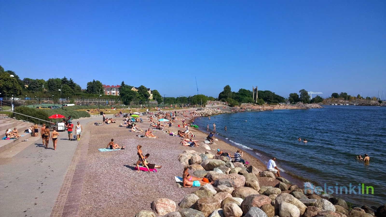 beach at Hernesaari