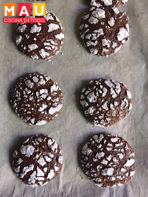 galletas de chocolate craqueladas facil navidad