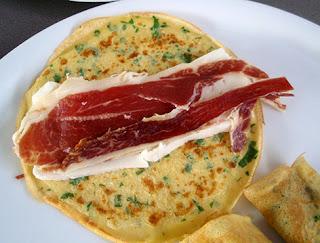 Relleno para creps con jamón y queso