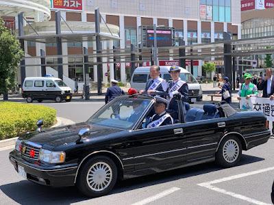 「春の全国交通安全運動出発式」星奈津美さん一日警察署長