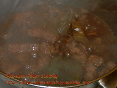 Pork Adobo with Chunky Chicken Liver Sauce - Cooking Procedure