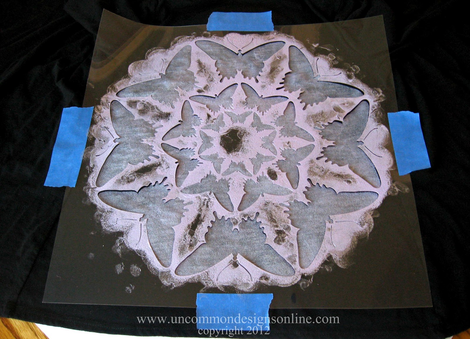 Butterfly Wall Stencils Painting Cutting Edge Stencils Review And Giveaway Stenciled