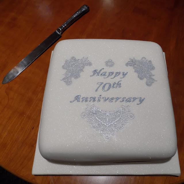 70th wedding anniversary cake