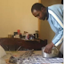 MPNAIJA HOT GIST:Watch funny video of man ironing his shirt with a hot pot...lol