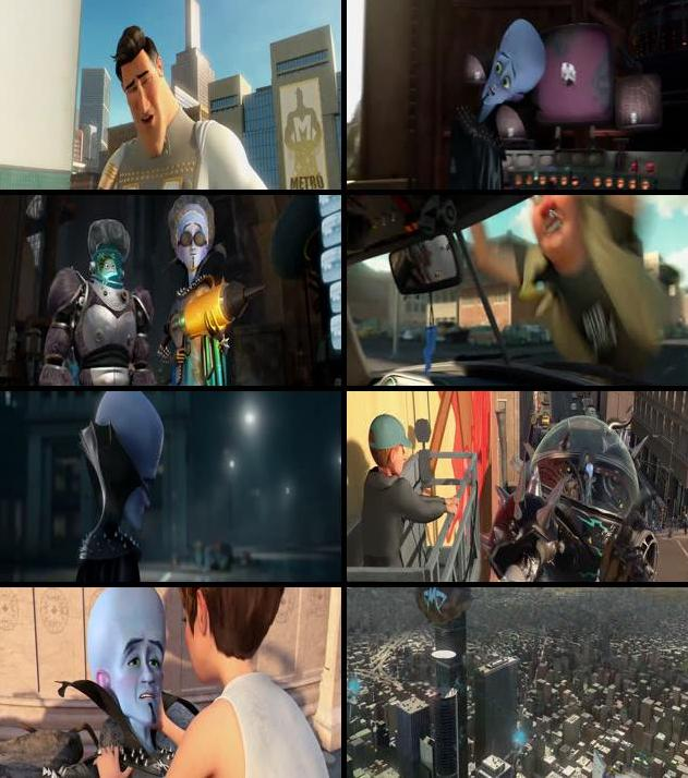 Megamind 2010 Dual Audio Hindi 480p BRRip 300mb