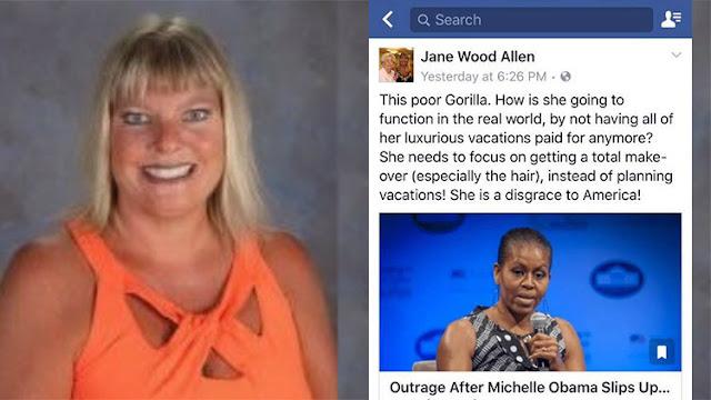 "Despiden a una profesora por llamar ""gorila"" a Michelle Obama"