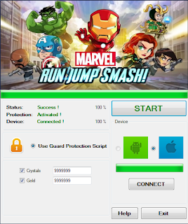 Download Free Marvel Run Jump Smash Game (All Versions) Hack V1.0 Unlimited  Crystals, Gold, 100% working and Tested for IOS and Android MOD, Trainer