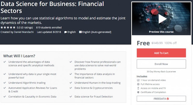 [100% Off] Data Science for Business: Financial Sectors| Worth 149,99$