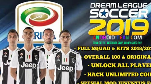 Dream League Soccer 2019 Mod Juventus Apk Mod Data  [Unlimited Money]